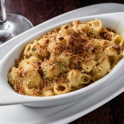 Parmesan-Crusted Tasso Mac & Cheese