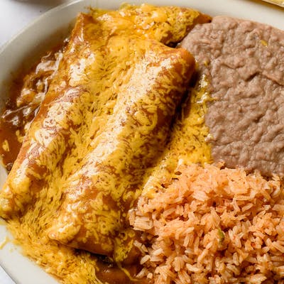 Two Beef Enchilada Dinner (Wednesday Special)