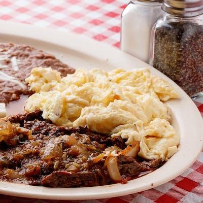 Fajita Ranchera & Eggs Plate