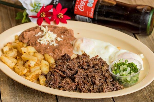 Barbacoa & Egg Plate