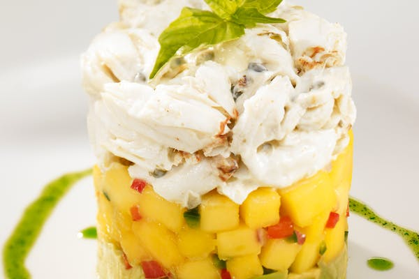 Crab, Avocado & Mango Stack