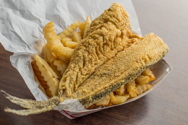 (1 pc.) Fried Pan Trout with Fries