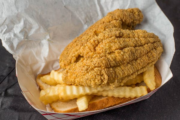 (1 pc.) Fried Catfish with Fries