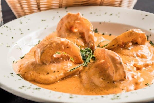 Lobster Ravioli with Shrimp