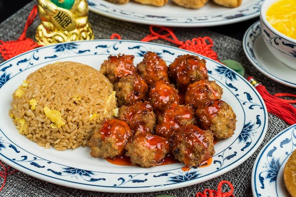 2. Sweet & Sour Shrimp or Meatball Combo