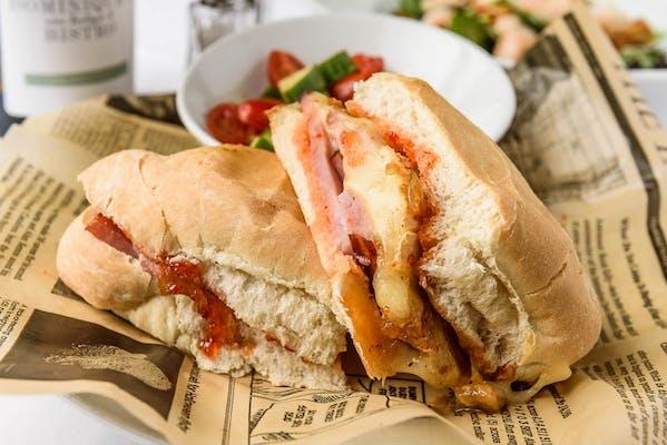 Hot Ham & Brie Sandwich