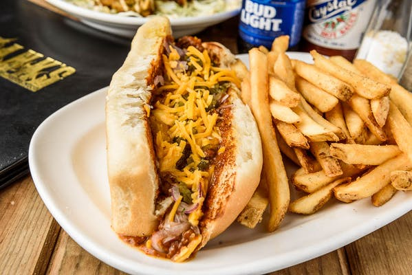 Loaded All-Beef Hot Dog