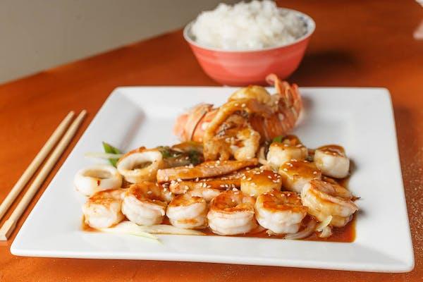 Seafood Teriyaki Entrée