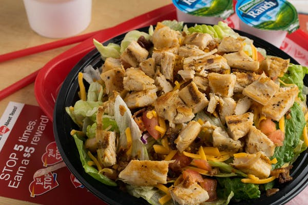 Grilled Chick'n Salad Combo Meal