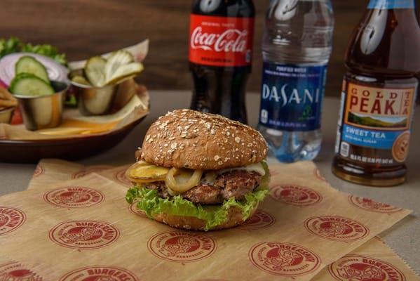 Turkey Burger Coca-Cola Combo