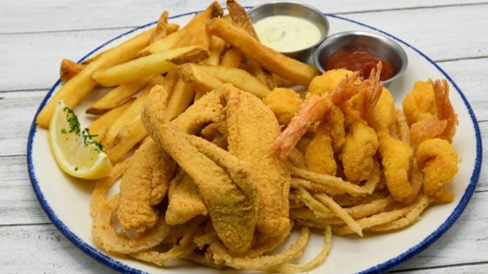 Fried fish + shrimp