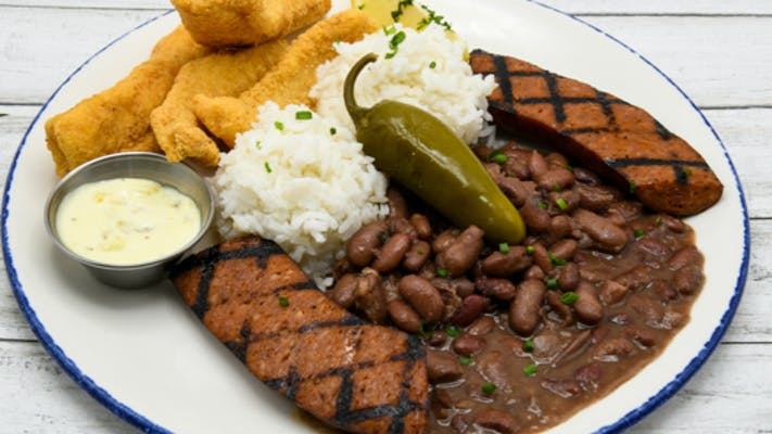 Red beans + Rice platte