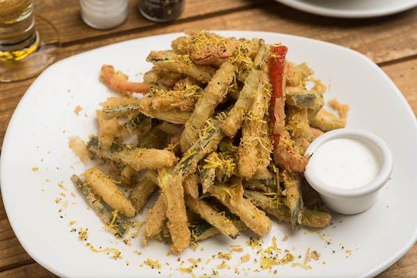 Lunch Fried Zucchini