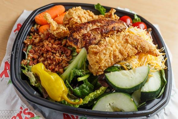 Garden Salad with (3 pc.) Chicken Tenders