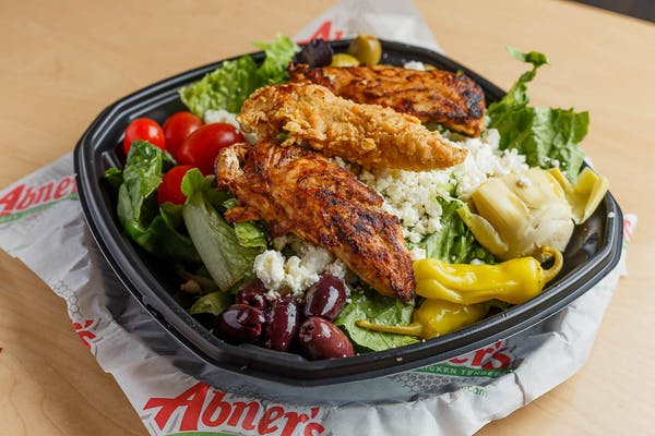 Greek Salad with (3 pc.) Chicken Tenders