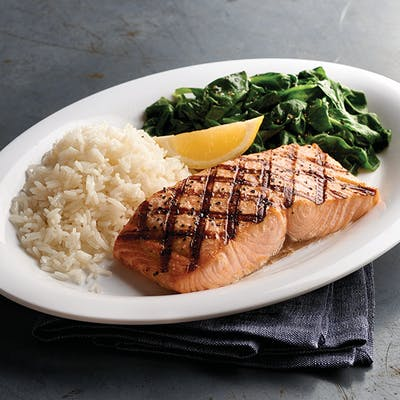 Maker's Mark Glazed Salmon