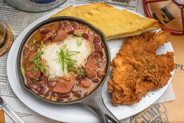 Red Beans & Rice with Fried Chicken