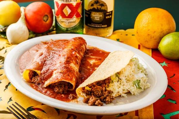 #1 Taco, Enchiladas & Side