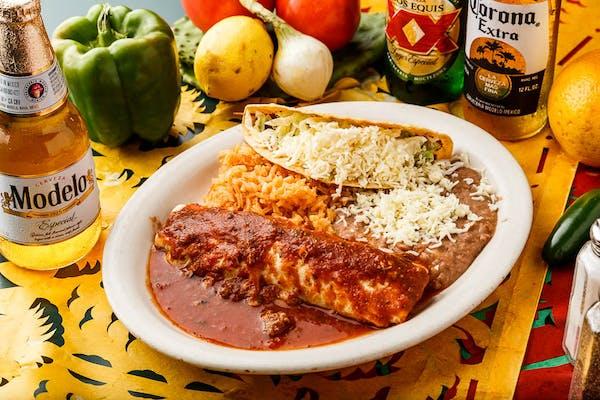 #18 Burrito, Taco, Beans & Rice