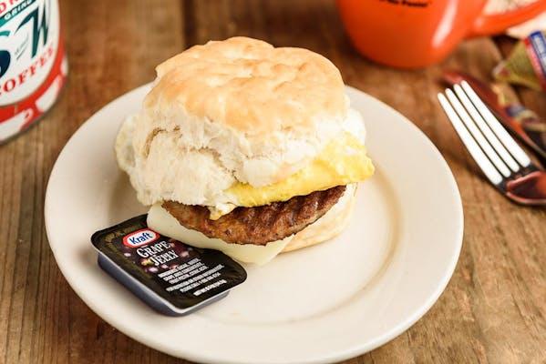 Egg, Sausage & Cheese Sandwich