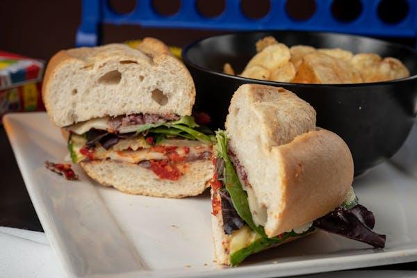 Grilled Zucchini & Swiss Sandwich