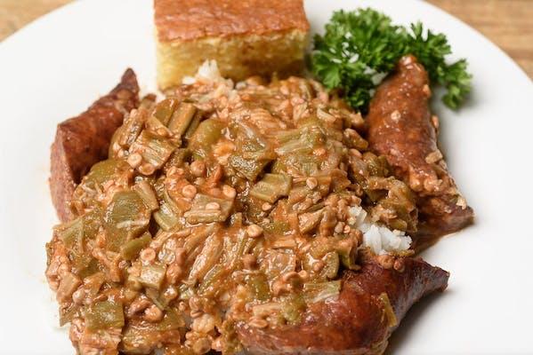 Smothered Okra & Sausage