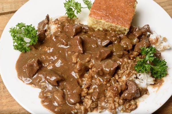 Stewed Beef Tips & Gravy