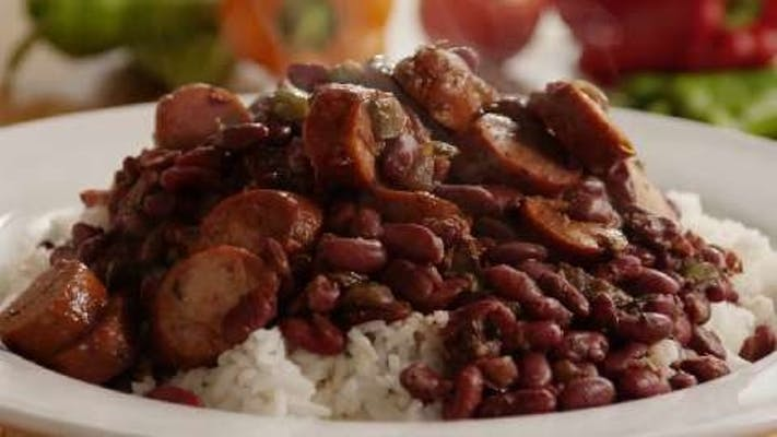 Red Beans, Sausage, & Baked Chicken