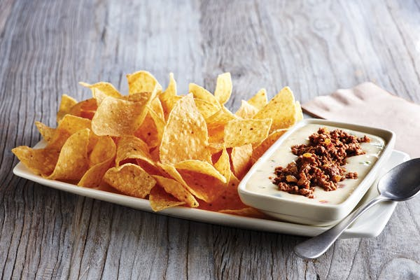 Taco-Topped Queso & Chips