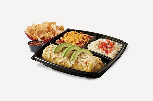 Chicken Verde Wet Burrito Plate
