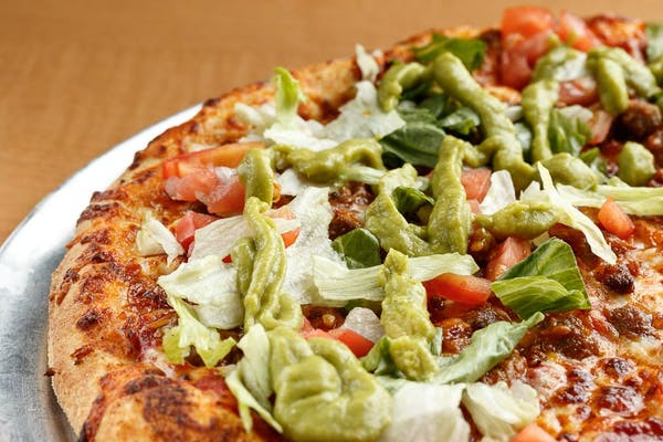 Guacamole Bacon Burger Pizza