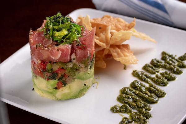 Lunch Marinated Tuna Tower