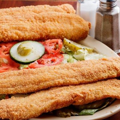 16. Fried Fish Salad