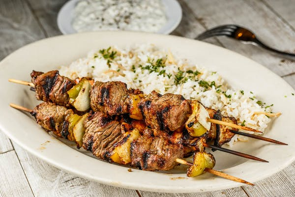 Chicken Kebab & Souvlaki Plate