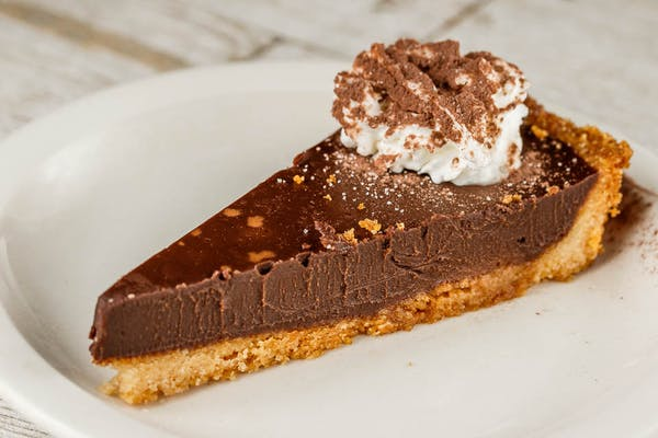 Flourless Almond-Crusted Dark Chocolate Tart