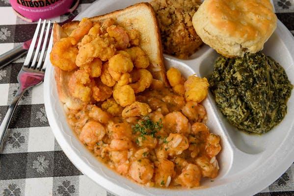 #3. Half & Half Shrimp Étouffée Special