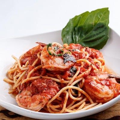 Lunch Shrimp Pomodoro over Pasta