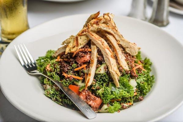 Chicken, Kale & Red Quinoa Salad