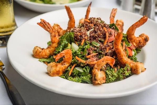 Shrimp, Kale & Red Quinoa Salad