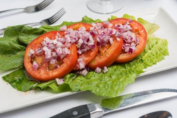 Sliced Beefsteak Tomato & Onion Salad