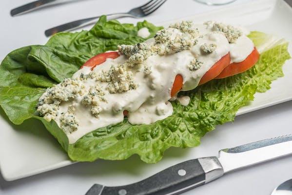 Sliced Beefsteak Tomato & Bleu Cheese Salad