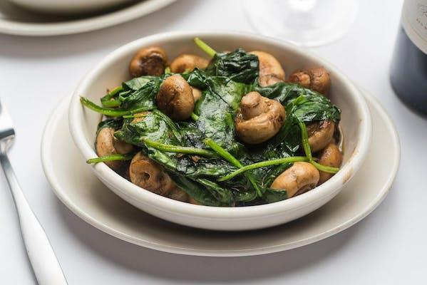 Sautéed Spinach & Button Mushrooms