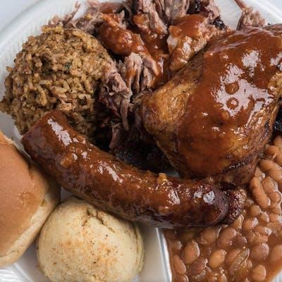 Three Meat Combo