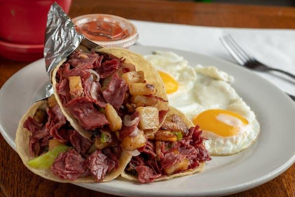 Corned Beef Hash Tacos