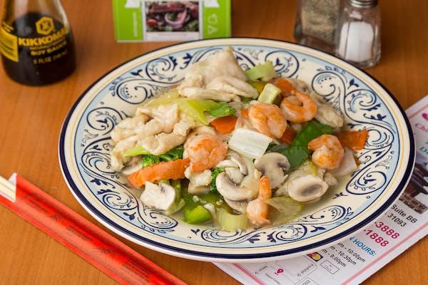 Sliced Chicken & Shrimp (Spicy)