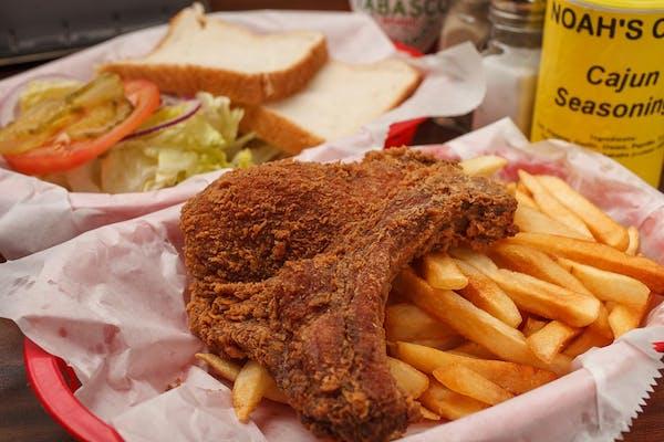 Fried Pork Chop Sandwich Basket