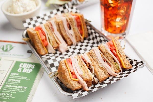 Smoked Turkey Club Sandwich