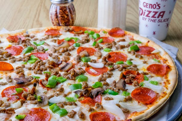Two Giant Multi-Topping Pizzas