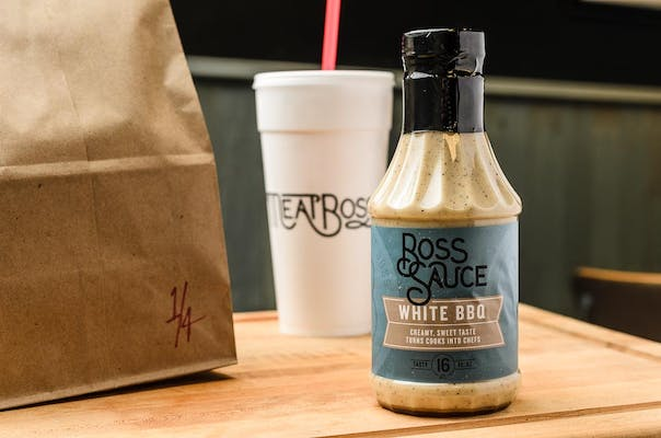White Boss Sauce Bottle