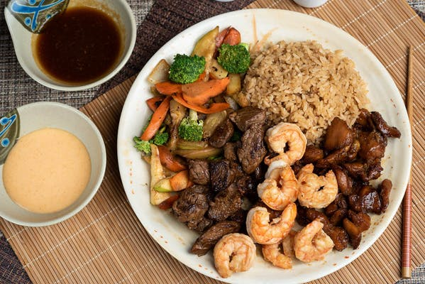 Chicken, Ribeye Steak & Shrimp